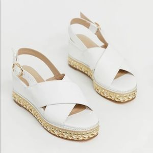 Simply Be Women's Extra Wide Espadrille Sandals 6